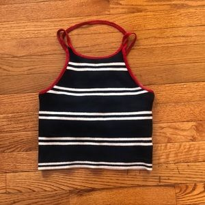 Hey this navy, red, and white tank is adorable!